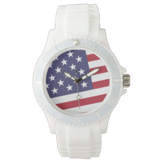 Bandera americana - celebre los E.E.U.U. - 4 de Reloj
