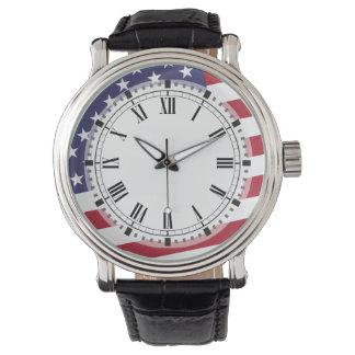 Bandera americana - celebre los E.E.U.U. de A Reloj De Mano