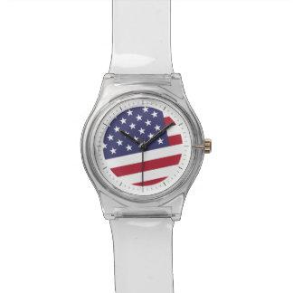 Bandera americana - celebre los E.E.U.U. de A Relojes