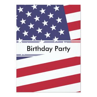Bandera americana - celebre los E.E.U.U. Invitación 13,9 X 19,0 Cm