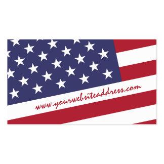 Bandera americana - celebre los E.E.U.U. Tarjetas De Visita