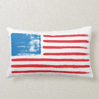 Bandera americana cepillada - almohada