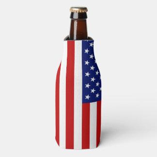 Bandera americana clásica y fresca patriótica enfriador de botellas