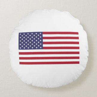 Bandera americana cojín redondo