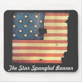 Bandera americana con 15 estrellas - la estrella S Tapete De Ratones