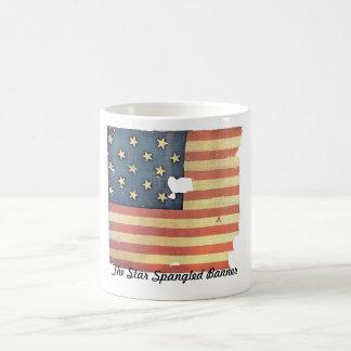 Bandera americana con 15 estrellas - la estrella taza