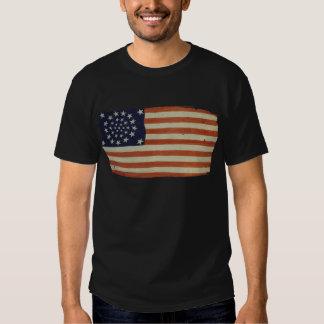 Bandera americana con 34 estrellas playera