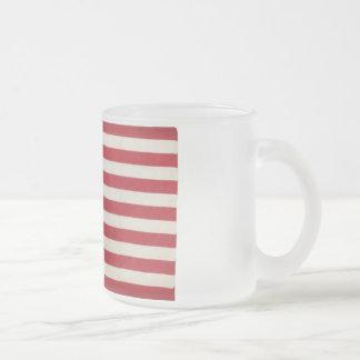 Bandera americana con 48 estrellas Whipple Tazas