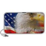 Bandera americana con Eagle calvo Altavoces De Viaje