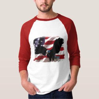 Bandera americana con Eagle calvo americano Camisas