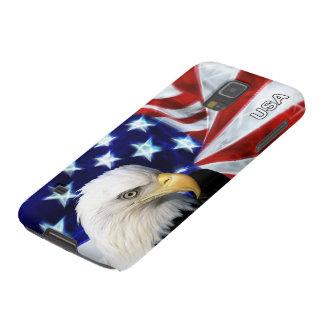 Bandera americana con Eagle calvo patriótico Funda Para Galaxy S5