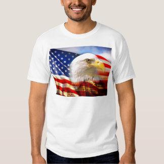 Bandera americana con Eagle calvo Poleras