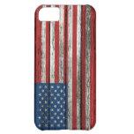 Bandera americana con efecto de madera áspero del