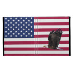 Bandera americana con el folio del iPad de Eagle