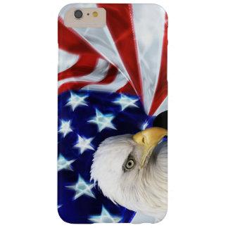 Bandera americana con el patriotismo de Eagle Funda De iPhone 6 Plus Barely There