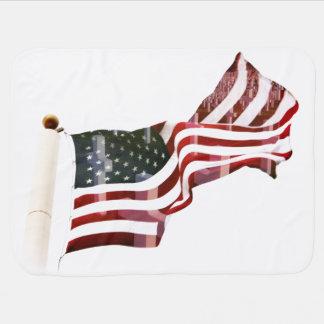 Bandera americana con las cruces mantita para bebé
