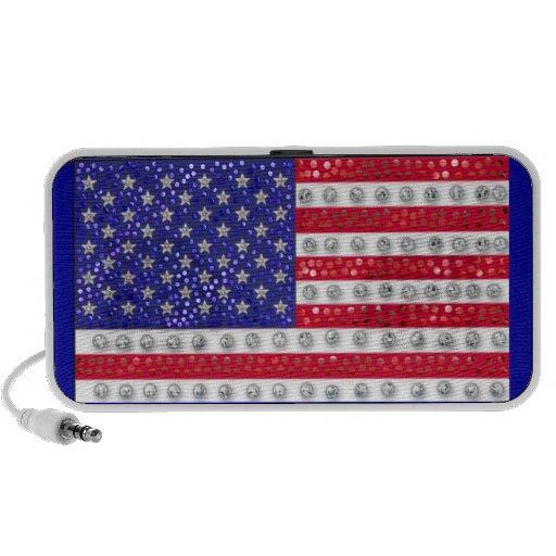 """bandera americana """"con lentejuelas"""" iPhone altavoz"""
