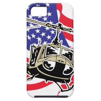 Bandera americana con los helicópteros iPhone 5 funda