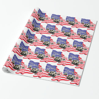 Bandera americana con los helicópteros papel de regalo