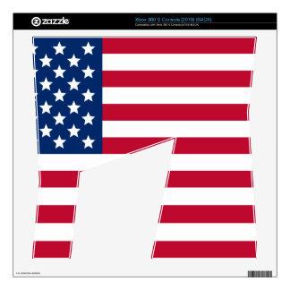 Bandera americana consola xbox 360 s skin