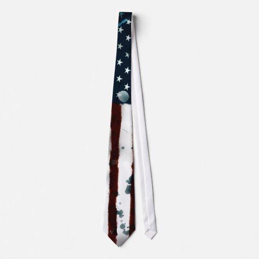 bandera americana corbata