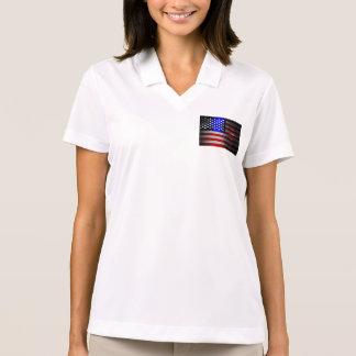 Bandera americana cortada laser 1 del filo camisetas polos