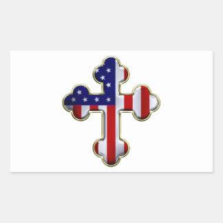 Bandera americana Cross2 Rectangular Altavoces