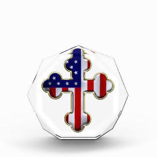 Bandera americana Cross2