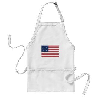 Bandera americana de 13 estrellas delantal