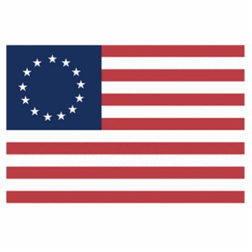 Bandera americana de 13 estrellas escultura fotográfica