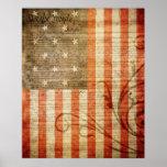 Bandera americana de 15 estrellas posters