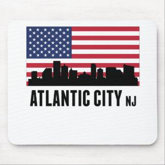 Bandera americana de Atlantic City NJ Tapete De Raton