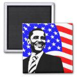 Bandera americana de Barack Obama Imán De Frigorifico