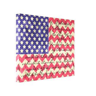 Bandera americana de Chevron con el compromiso de Lona Envuelta Para Galerías