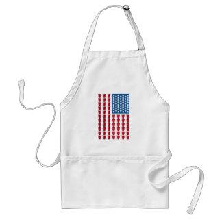 Bandera americana de consumición del juego de Pong Delantal