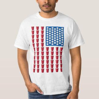 Bandera americana de consumición del juego de Pong Playera