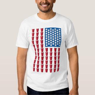 Bandera americana de consumición del juego de Pong Playeras