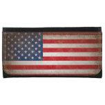 Bandera americana de cuero del vintage