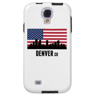 Bandera americana de Denver CO Funda Para Galaxy S4
