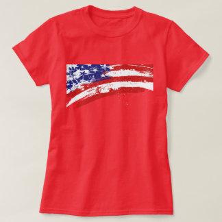 Bandera americana de desintegración playeras