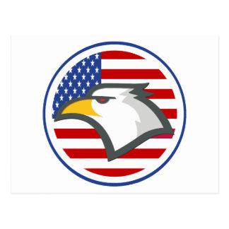 Bandera americana de Eagle Postal