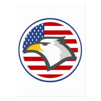 Bandera americana de Eagle Postales