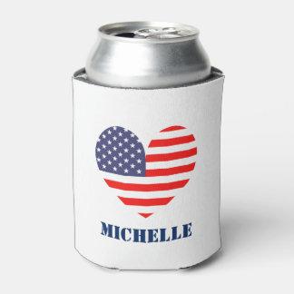 Bandera americana de encargo 4ta de los neveritas enfriador de latas