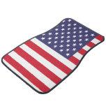 Bandera americana de Estados Unidos los E.E.U.U. Alfombrilla De Coche