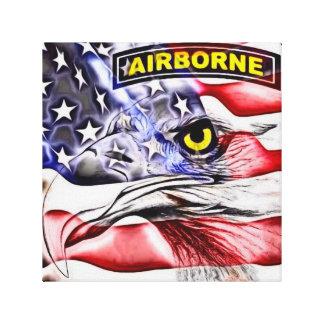 bandera americana de griterío del águila de la impresión de lienzo