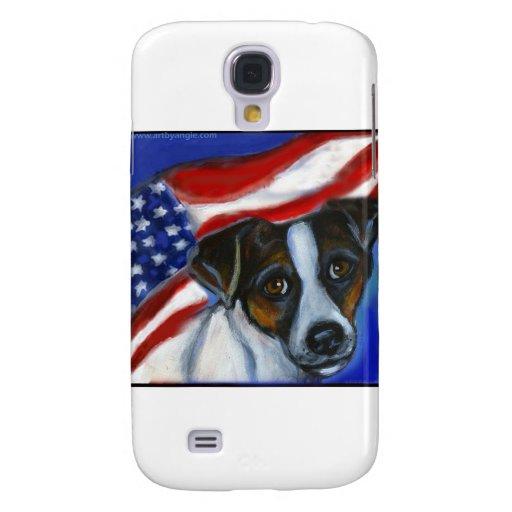 Bandera americana de Jack Russel Terrier