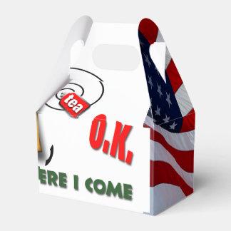 Bandera americana de la bolsita de té cajas para regalos