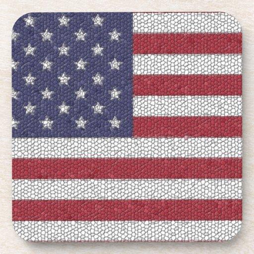 Bandera americana de la cantería posavasos de bebidas