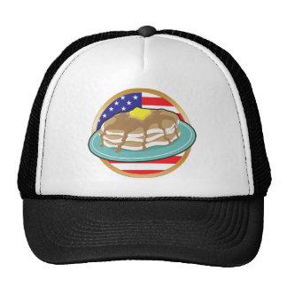 Bandera americana de la crepe gorros bordados