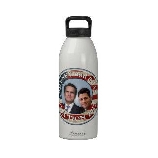 Bandera americana de la elección 2012 de Romney Ry Botallas De Agua